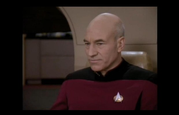 "Capt. Picard sings ""Let It Snow"" and it's glorious."